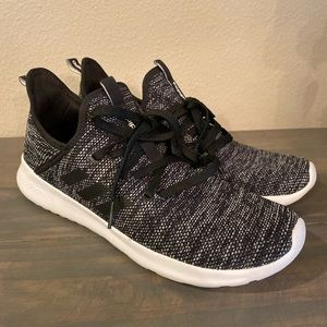 Women's Adidas Cloudfoam Running Shoes Blk/Wht 11